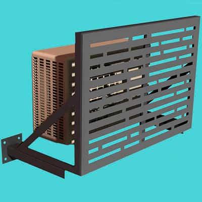 Короба для систем кондиционирования размещаемые на фасаде здания